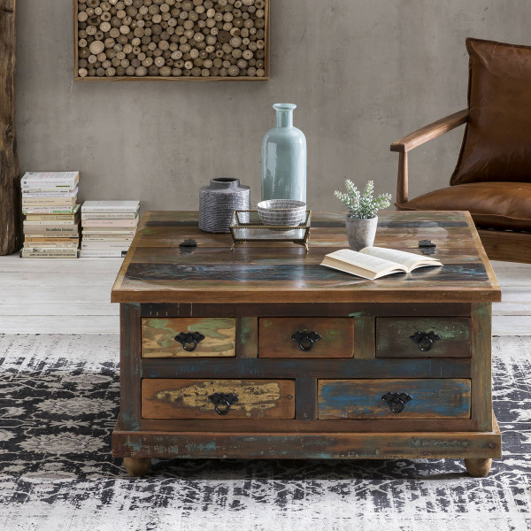 Salontafel gerecycled sloophout