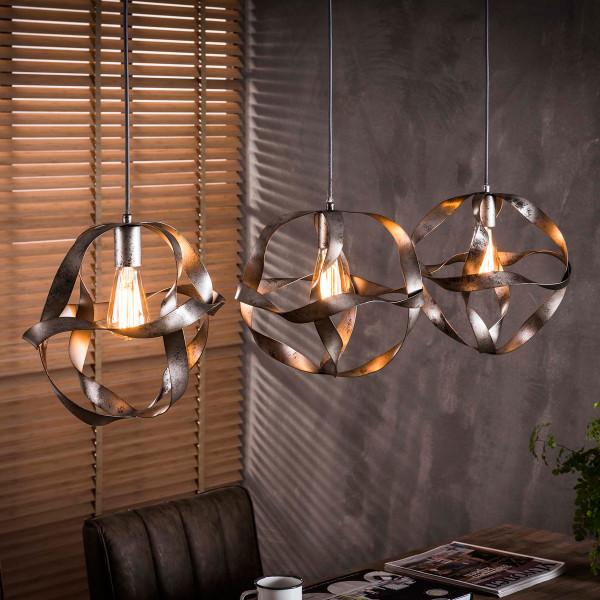 Hanglamp van gedraaid metaal 3L