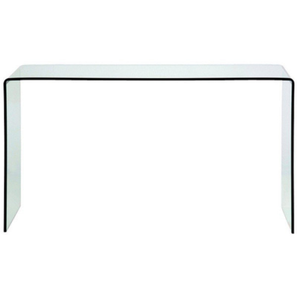 Sidetable gebogen glas