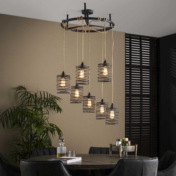 Stoere hanglamp voor ronde eettafel