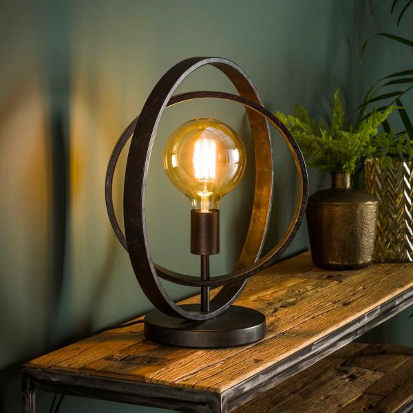 Stoere tafellamp met cirkels
