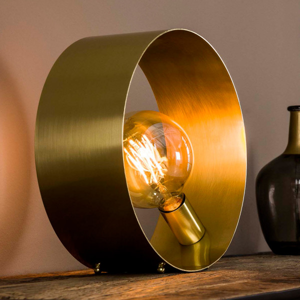 Tafellamp gouden cirkel