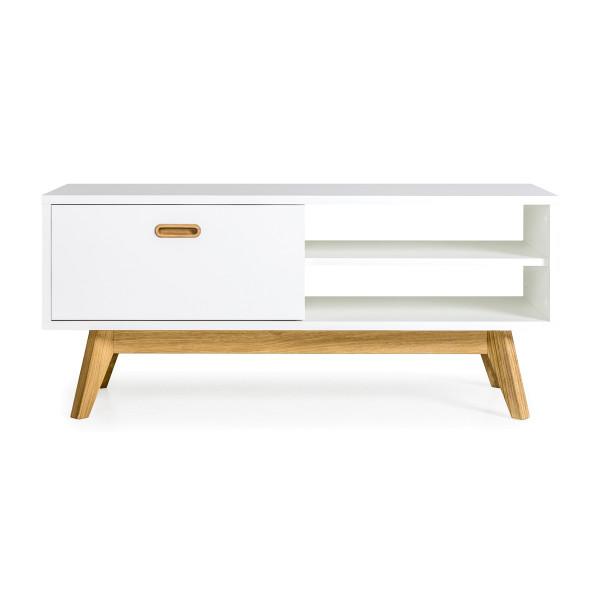 Tv-meubel eikenhout wit