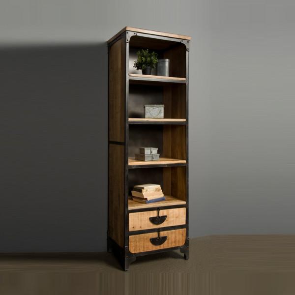 Bruine houten wandkast