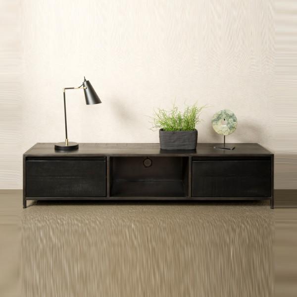 Zwart houten tv-meubel
