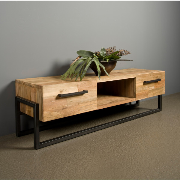 Teakhout tv-meubel 156 cm