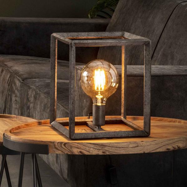 Vierkante tafellamp industrieel