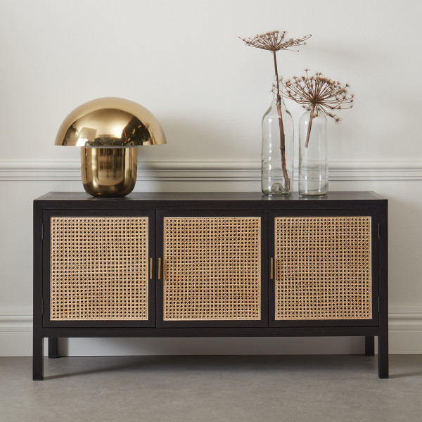 Webbing dressoir zwart hout 150 cm