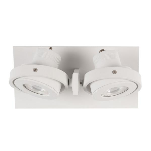 Witte dubbele LED spot