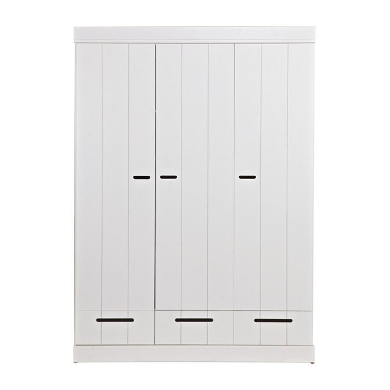 Witte kledingkast 3-deurs