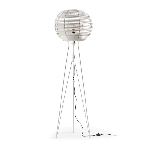 Witte lamp met metaal