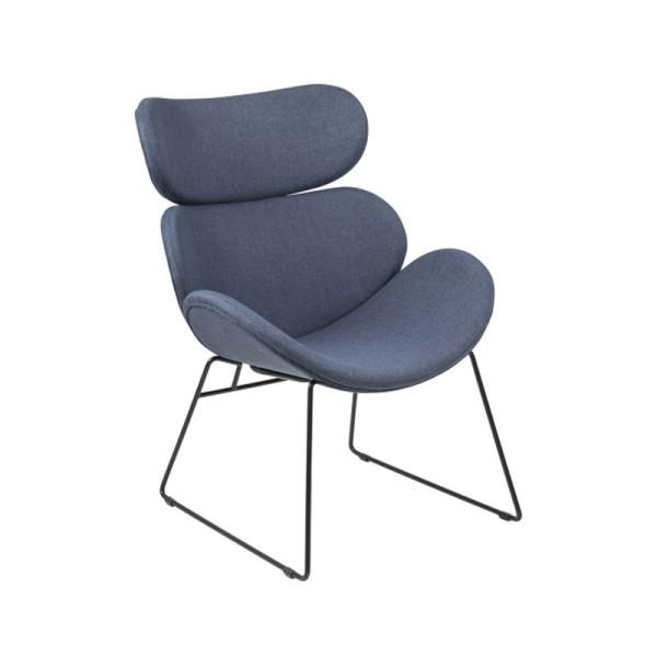 Design fauteuil met slede onderstel