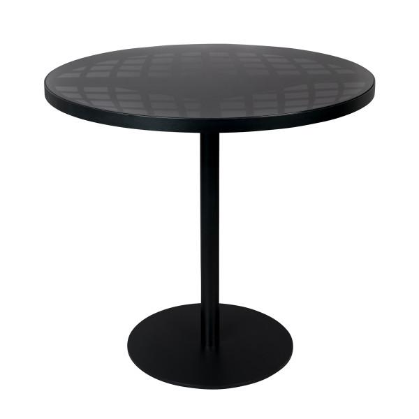 Zwarte ronde bistrotafel