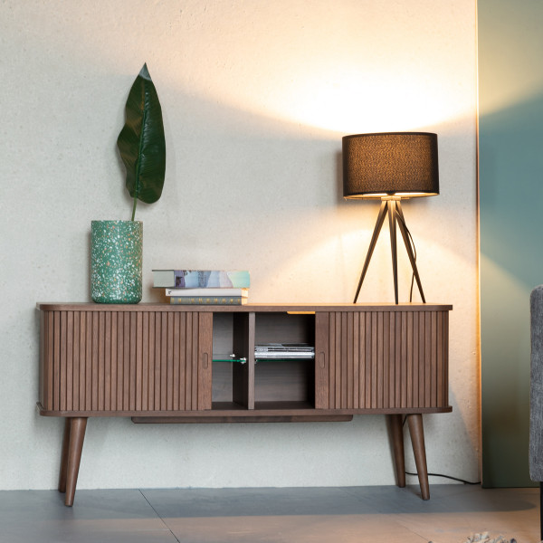 Zuiver Tv Meubel.Zuiver Barbier Walnut Walnoot Tv Dressoir 4300019 Lumz