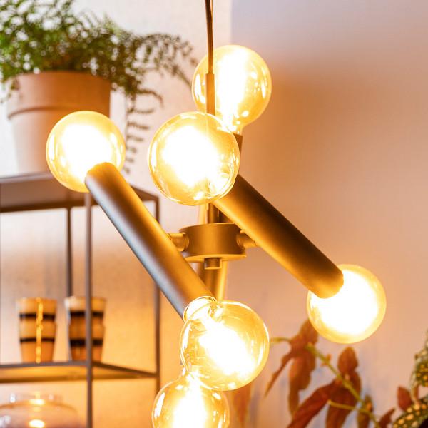 Moderne hanglamp mat zwart