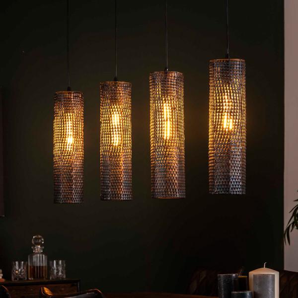 Zwart-bruine hanglamp koker vorm