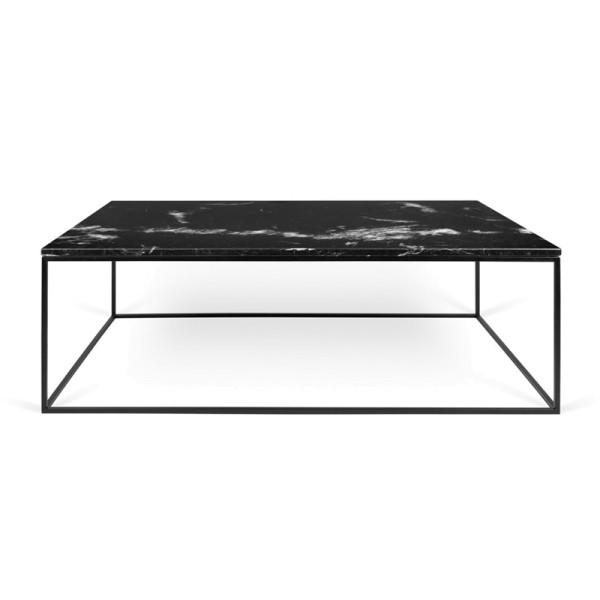 Zwarte salontafel marmer 120 cm