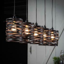 5-delige metalen hanglamp