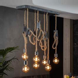 7-delige hanglamp van scheepstouw