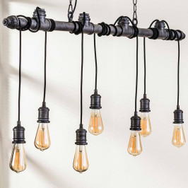 7-lichts industriele hanglamp