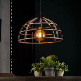 Ronde hanglamp van vintage ijzer