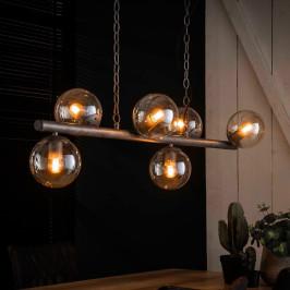 Eettafel hanglamp met glazen bollen