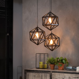 Triangel hanglamp metaal