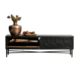 Vintage tv-meubel zwart hout