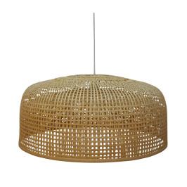 Grote lamp van bamboe