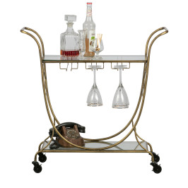 Trolley antique brass