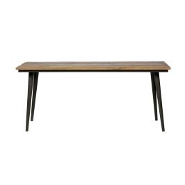 Houten tafel met zwarte poot