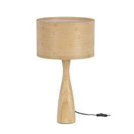 Moderne tafellamp van hout