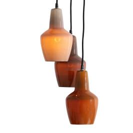 Retro hanglamp bruintinten
