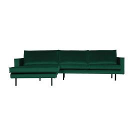 Hoekbank chaise longue fluweel