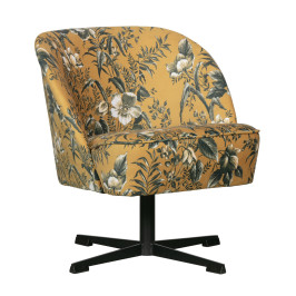 Draaibare fauteuil bloempatroon