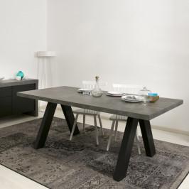 Moderne eettafel met betonlook