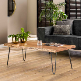 Boomstam salontafel acaciahout 120 cm