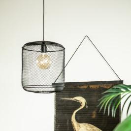 Hanglamp gevlochten ijzerdraad