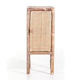 Bamboe kastje met rotan deur