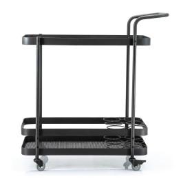 Zwarte trolley van metaal