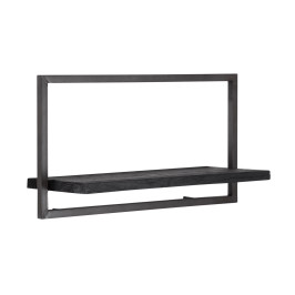 Wandplank van zwart teakhout