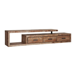 Teakhouten tv-meubel inclusief 3 lades