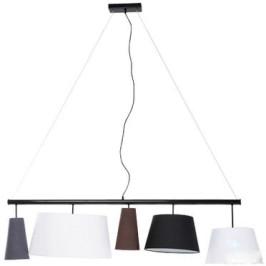 Design hanglamp zwart 140 cm
