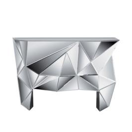 Design sidetable spiegelglas