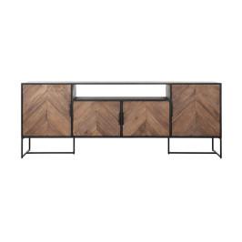 TV-dressoir met visgraat patroon