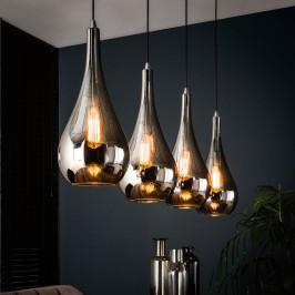 Druppelvormige hanglamp glas
