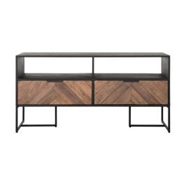 TV-meubel zwart met visgraat