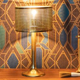 Tafellamp met gouden webbing
