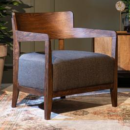 Houten design fauteuil
