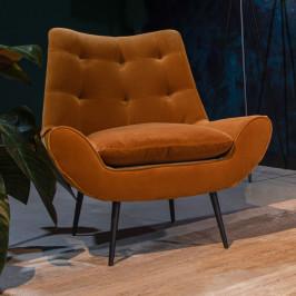 Lounge fauteuil velvet